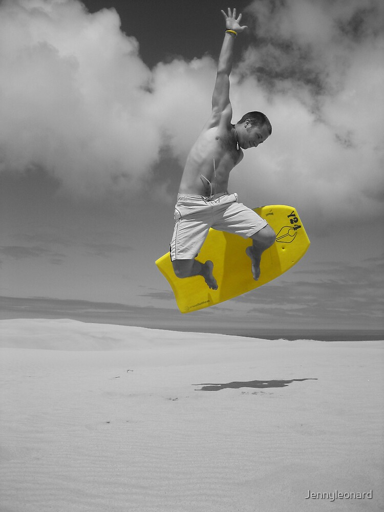 sandboarding man by Jennyleonard