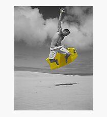 sandboarding man Photographic Print