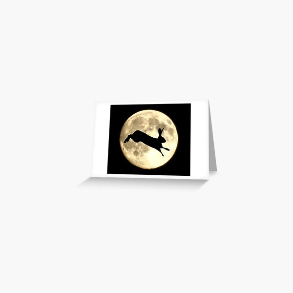 Hare and Moon Greeting Card