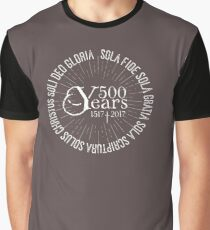 500 YEARS Reformation Celebration 5 Solas Graphic T-Shirt