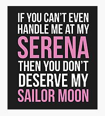 Don't Deserve My Sailor Moon Photographic Print