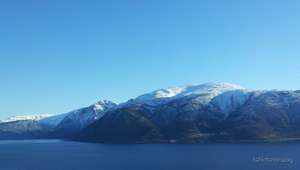 View towards Sognefjord, Sogn og Fjordane, Norway by tshirtsnorway