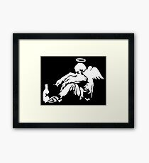 Banksy Fallen Angel Framed Print