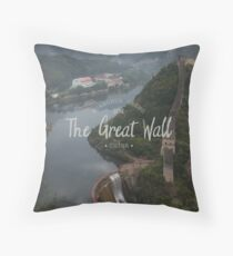 A different view of The Great Wall of China Throw Pillow
