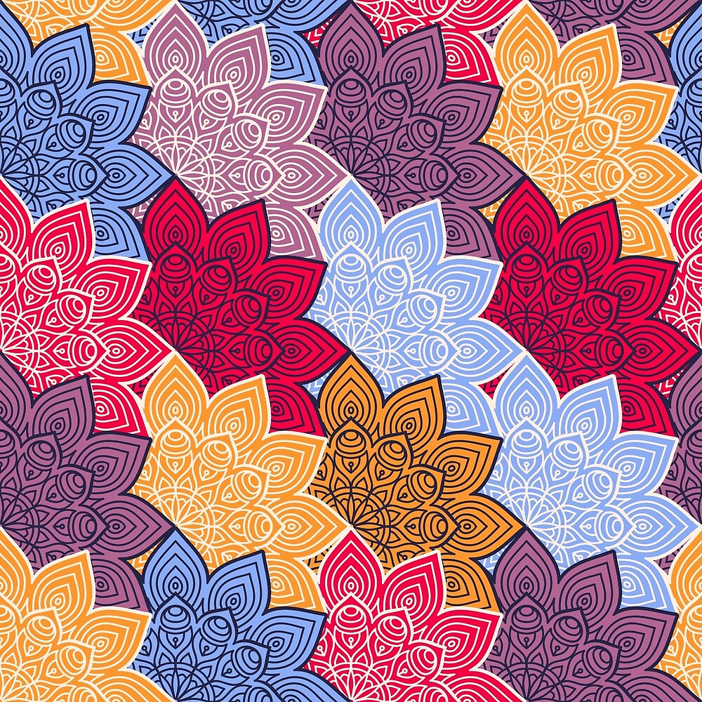 Colorful Pattern by roseglasses