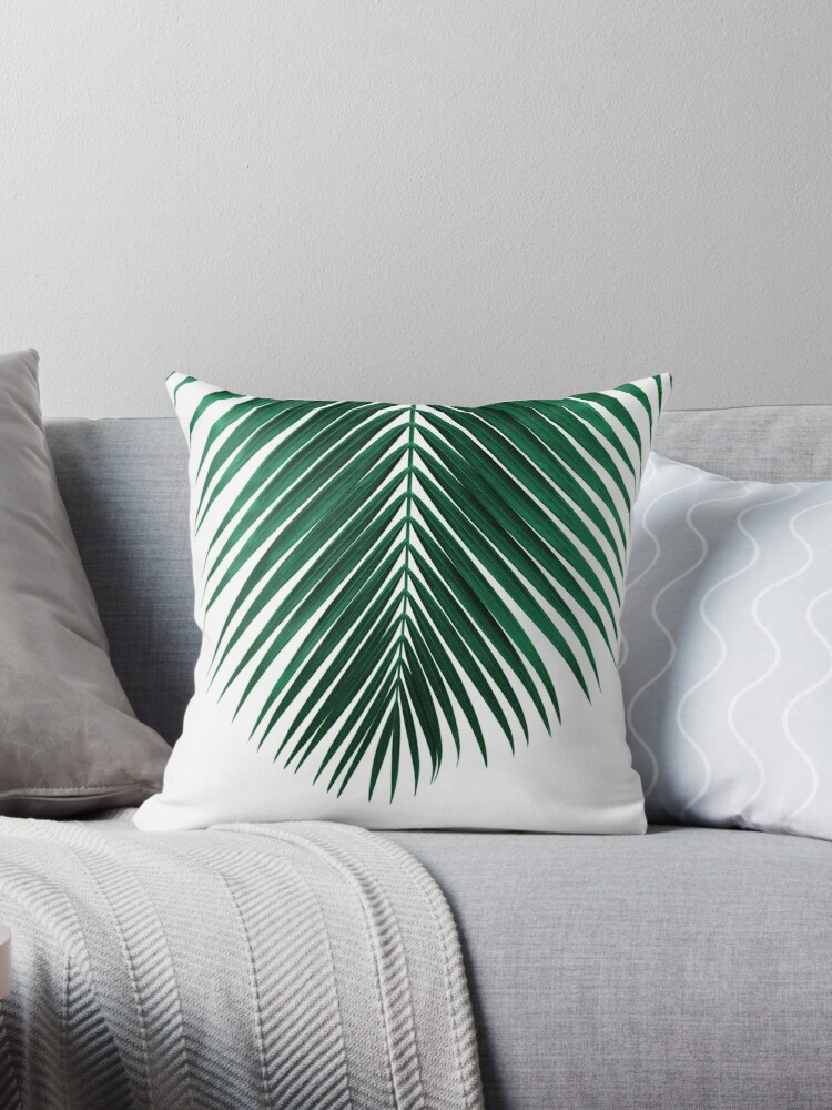 Astonishing Palm Leaf Throw Pillow By Nordikart Ocoug Best Dining Table And Chair Ideas Images Ocougorg