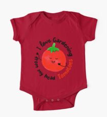 I love Gardening from my head Tomatoes - Punny Garden One Piece - Short Sleeve