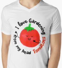 I love Gardening from my head Tomatoes - Punny Garden T-Shirt