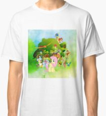 my little pony fluttershy cottage watercolor Classic T-Shirt
