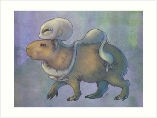 Grey and Capybara by Savannah Horrocks
