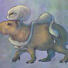 Grey and Capybara by savicorn