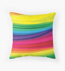 Bright Multicolored Rainbow Arcs Throw Pillow
