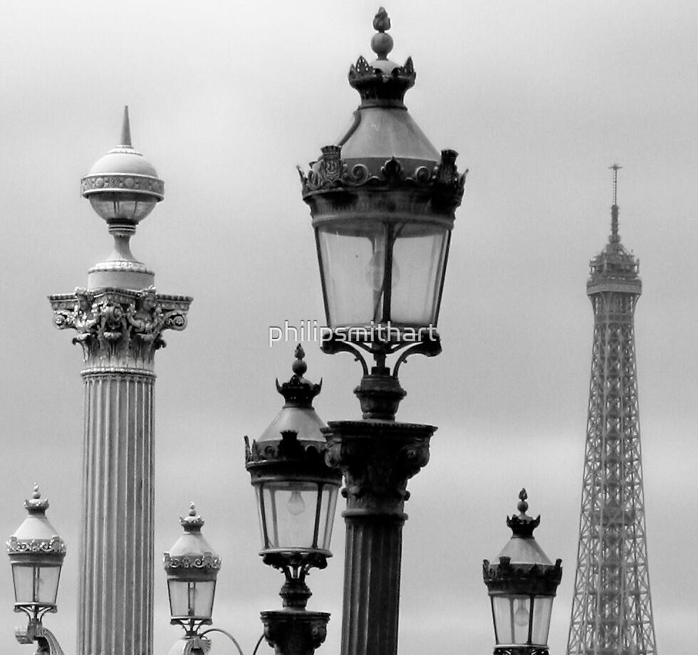 Paris Skyline by philipsmithart