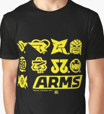 [ARMS] Character Icons Graphic T-Shirt