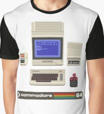 Commodore 64 - 1980s home computer Graphic T-Shirt