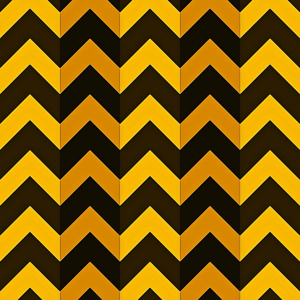 Shades of Gold with Black Chevron Stripes by Elaine Plesser
