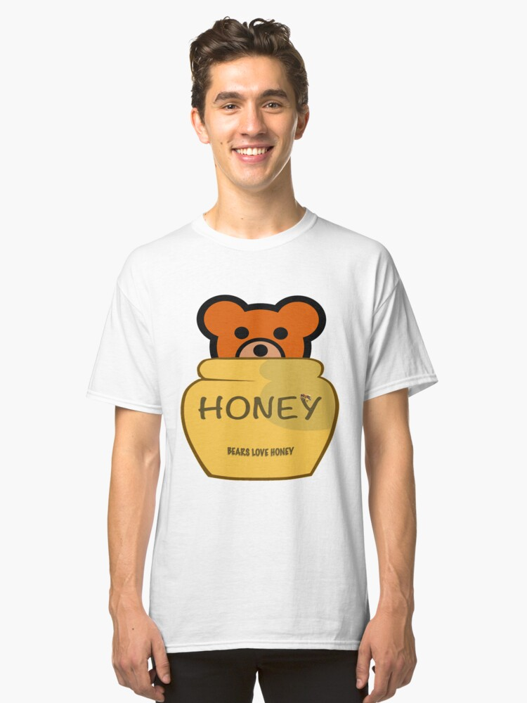 BEARS LOVE HONEY Classic T-Shirt Front