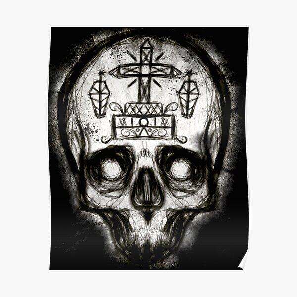 Voodoo-Schädel Poster