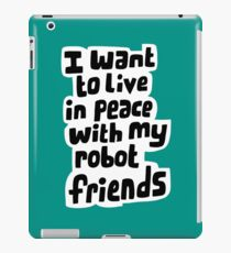 Robot friends iPad Case/Skin