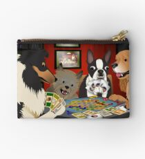 Dogs Playing Settlers of Catan Studio Pouch