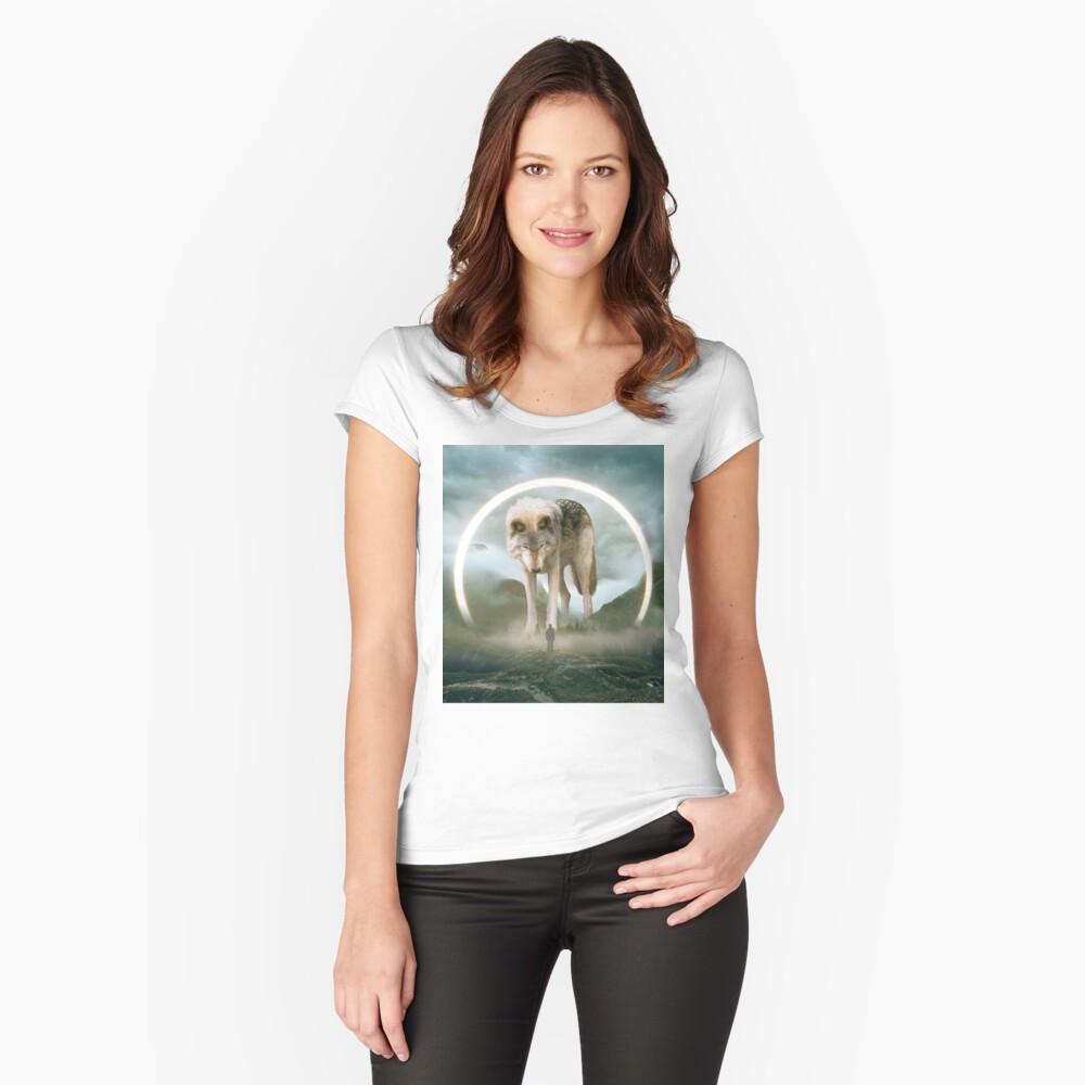 aegis | lobo Camiseta entallada de cuello redondo