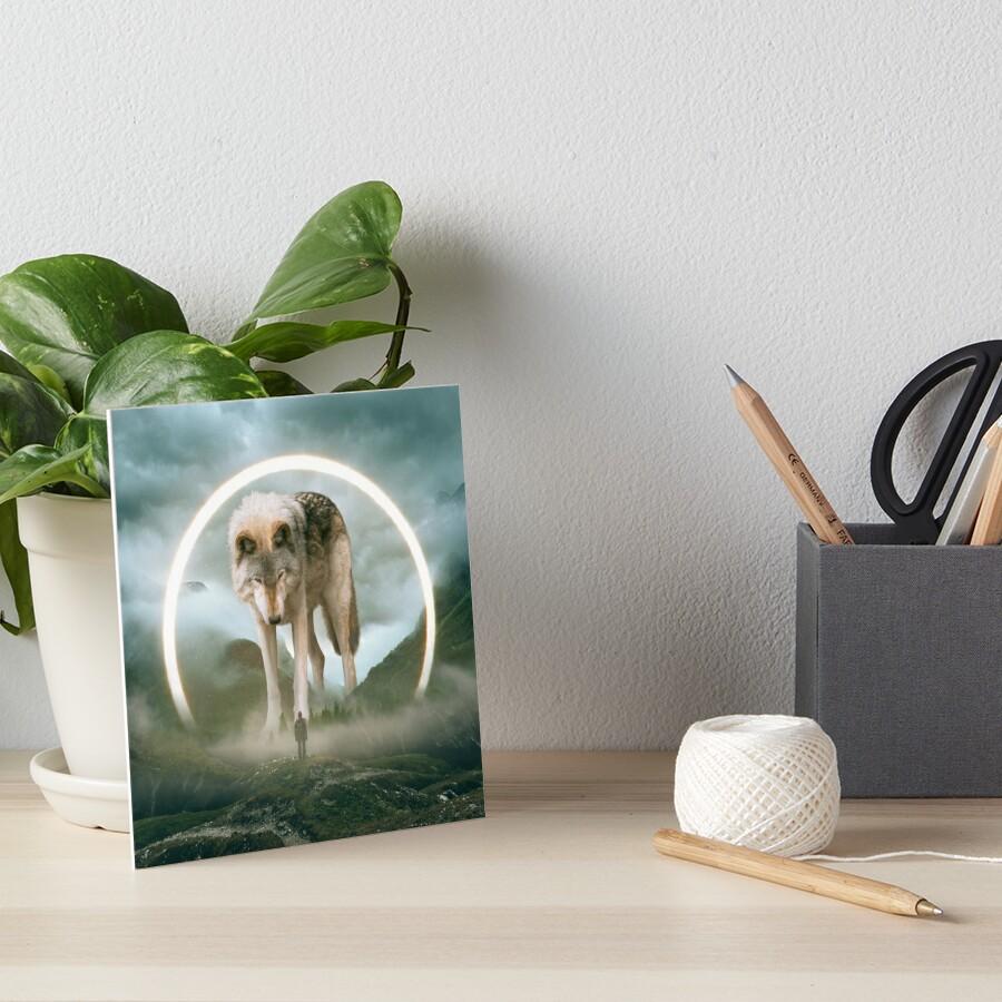 aegis   wolf Art Board Print