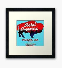 motel bull Framed Print