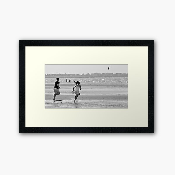 Beach Race Framed Art Print