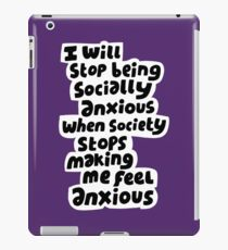 Socially anxious iPad Case/Skin