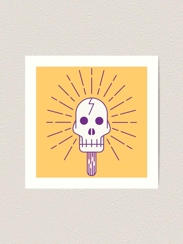 Alternate view of Skull Pop Art Print