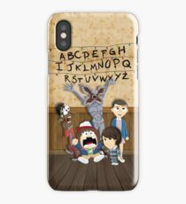 Stranger Things cartoon mash up iPhone Case/Skin