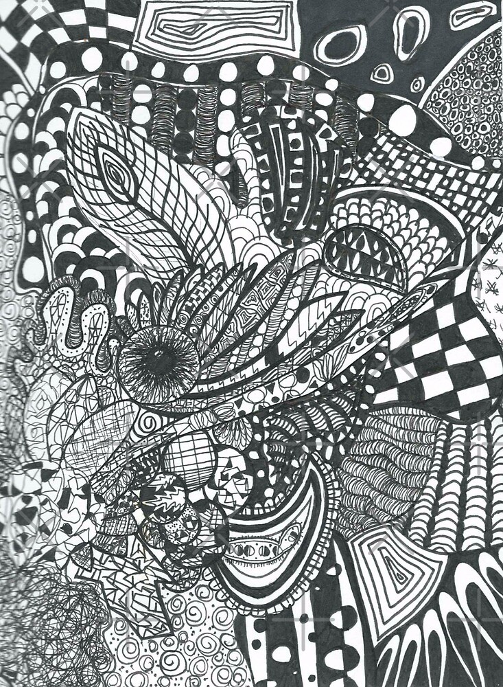 Zentangle Doodle by Sara Owen