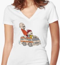 Breaking Bad Calvin And Hobbes Women's Fitted V-Neck T-Shirt