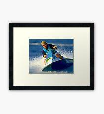 JD on a Jet Ski Framed Print