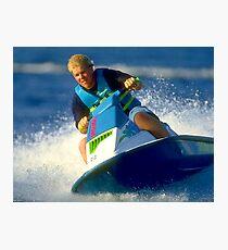 JD on a Jet Ski Photographic Print