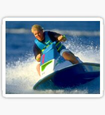 JD on a Jet Ski Sticker