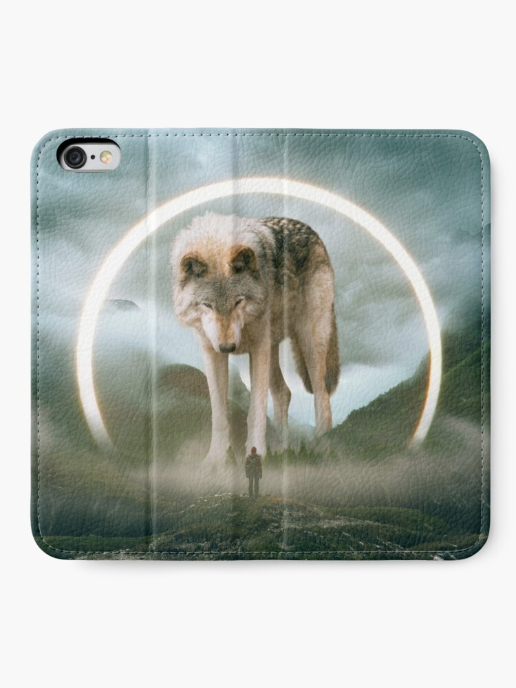 Alternate view of aegis | wolf iPhone Wallet