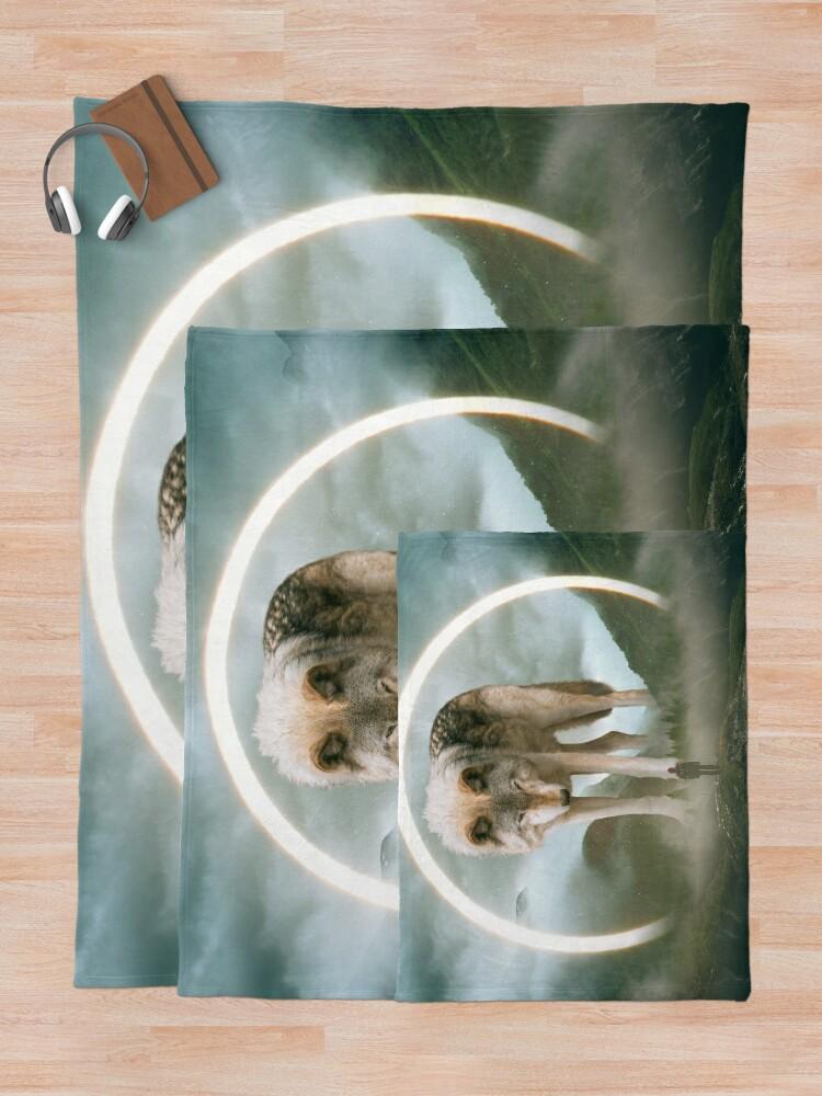 Alternative Ansicht von aegis | Wolf Fleecedecke