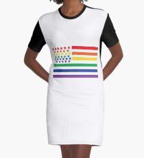 Love Wins Graphic T-Shirt Dress