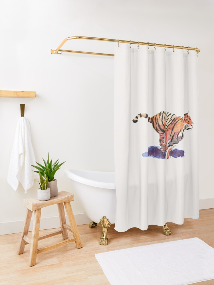 Alternate view of The Tiger Shower Curtain