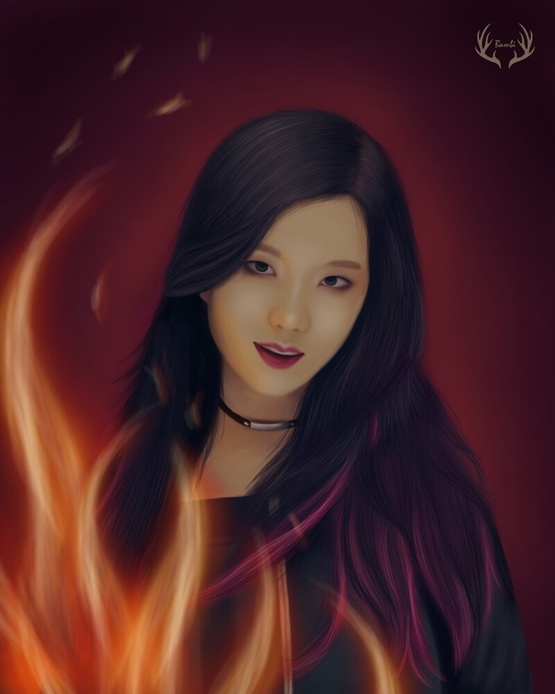 Jisoo Playing With Fire by Yunhosbambi