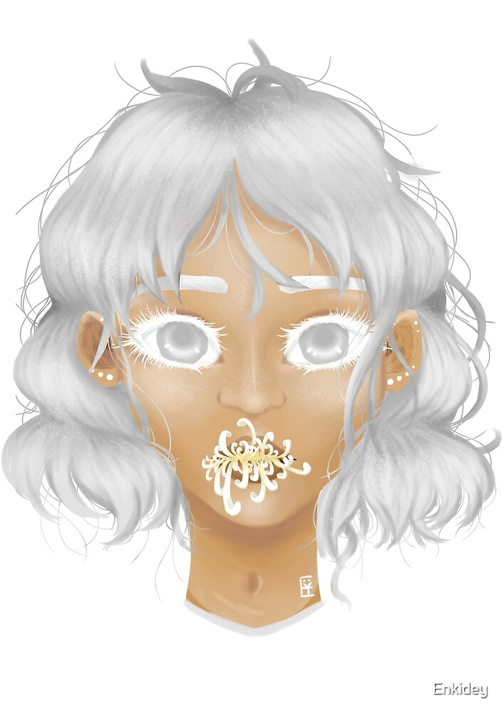 Hanahaki disease: White Chrysanthemum °Truth° by Enkidey