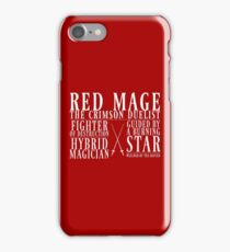 Red Mage iPhone Case/Skin