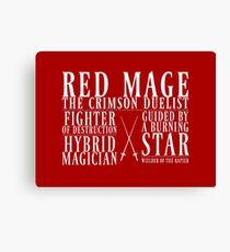 Red Mage Canvas Print