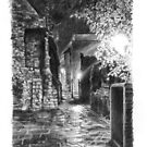 Between Greyfriars and St Swithins church, Lincoln by ChrisWilsonArt