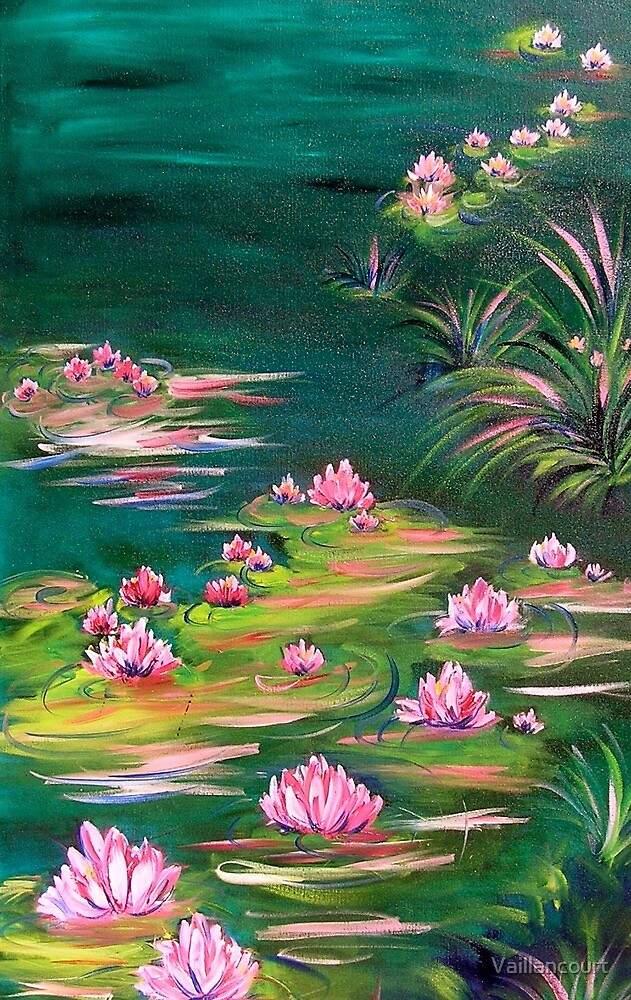 Pink water lily by Vaillancourt