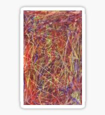 Abstract Expressionism Music Composition Sticker