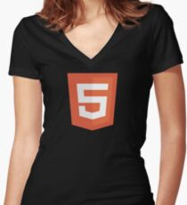 HBO SILICON VALLEY 'HTML5' Women's Fitted V-Neck T-Shirt