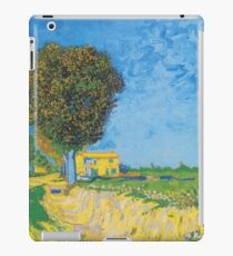 Avenue at Arles with houses - Vincent Van Gogh iPad Case/Skin