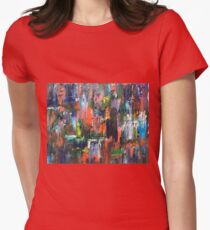 Raining Reflection Womens Fitted T-Shirt